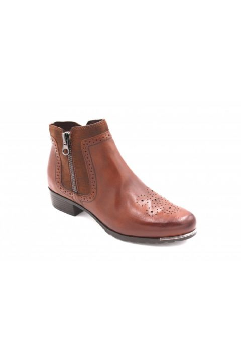 CAPRICE Tan Ankle Boots.